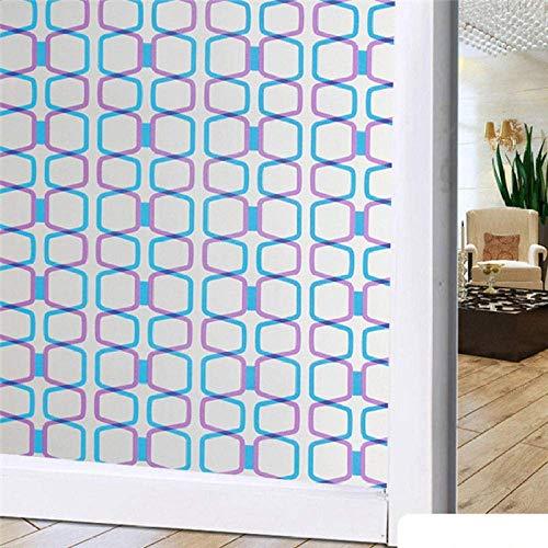 FFYYJJLEIB Frosted Glass Window Film Privacy Adhesive Foil Window Sticker Foil Waterproof Home Decor Bathroom-60x200cm