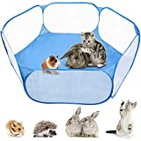 MAIKEHIGH Pliable Pet Puppy Playpen Cage Play Tente Outdoor Indoor Fence for Guinea Pig, Rabbits, Hamster, Chinchillas and Hedgehogs (Blue)