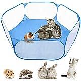MAIKEHIGH Tienda de jaulas de Corral para Mascotas Plegable Tienda de Juegos Valla Exterior para Conejillos de Indias, Conejos, hámsters, Chinchillas y erizos (Azul)