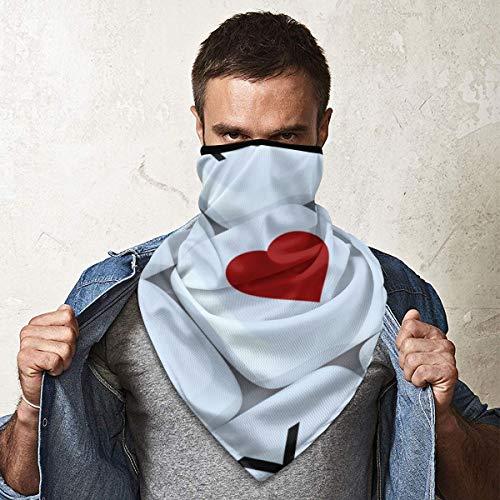 Bandana Gesichtsmaske Unisex Radfahren Schal Halstuch Sturmhaube Kopfbedeckung Stirnband für Outdoor Radfahren Motorrad mit UV-Schutz Keyboard Computer Love Heart