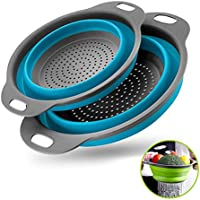 2-Pieces Zoopod Collapsible Draining Pasta Vegetable fruit Colander