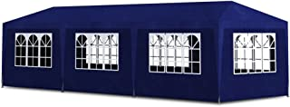vidaXL Outdoor Party Tent 10'x30' Blue Gazebo Canopy Pavilion Cater 8 Walls