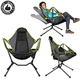 LLFA Portable Outdoor Folding Camping Rocking Chair, Swing Luxury Recliner, Relaxing Swing, Comfortable backrest Outdoor Folding Chair