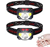 Anecity LED Head Torch, USB Rechargeable Headlamp Headlight, [2 Pack] Ultra Bright 800