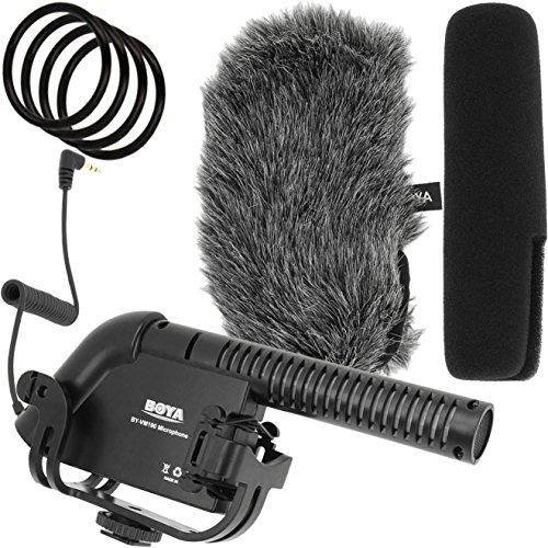 Boya BY-VM190 Mikrofon für DSLRs, DSLMs, Camcorder und Audiorekorder mit Hochpass-Filter und Supernieren-Charakteristik