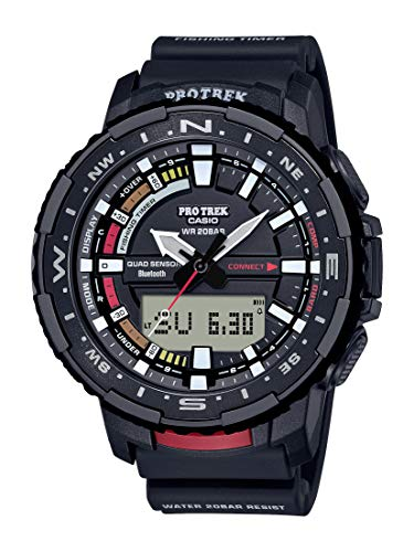 Casio Men's Pro Trek Quartz Sport Watch with Resin Strap, Black, 22.5 (Model: PRT-B70-1CR)