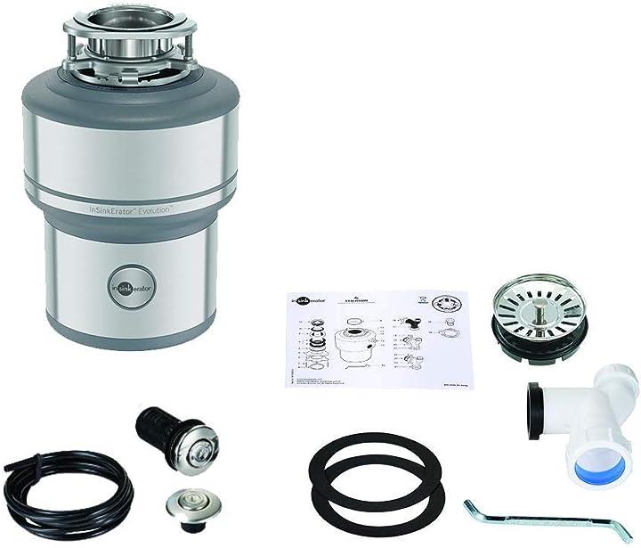 Dispositivo di smaltimento dei rifiuti da cucina, con interruttore aria, 1 pezzo insinkerator evolution 200 B00C87C35I