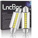 LncBoc C5W 42MM Ampoule Extrêmement Lumineuse CANBUS 7SMD 3030 LED Plaque Ampoule Festons navette plafonnier Veilleuse voiture lumiere Xenon Blanc