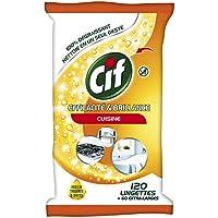 CIF Lingettes Nettoyantes Efficacité/Brillance Cuisine 120 Pièces