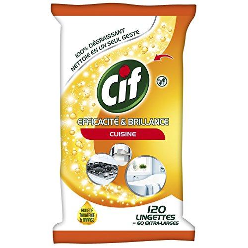 Cif toallitas limpiadoras eficiencia/brillo cocina
