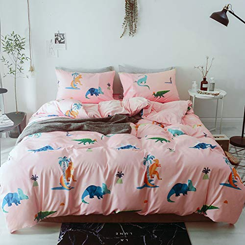 R.S. Réversible Couvre-Lit Imprimé Douce en Coton Peluche Épais Parure De Lit,Pink