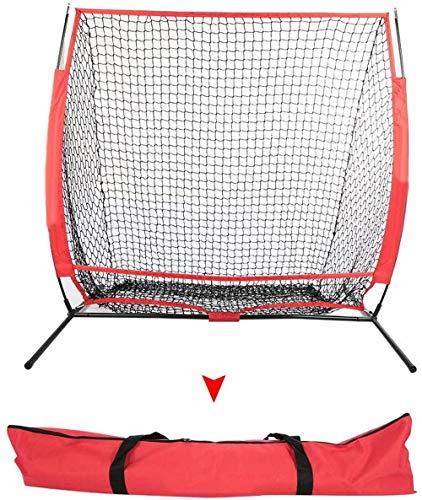 HWLY Rete da pratica da baseball, per allenamento portatile, con telaio pieghevole e borsa da trasporto per interni ed esterni con borsa da trasporto (A)