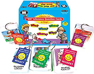 Super Duper Publications Ring Talkers WH Inference Question Fun Deck Cards Educational Learning Resource for Children