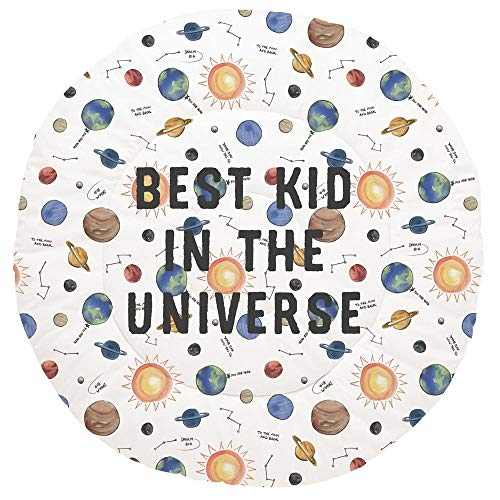 Amazing Deal Carousel Designs Personalized Custom Solar System Baby Play Mat Best Kid in The Univers...