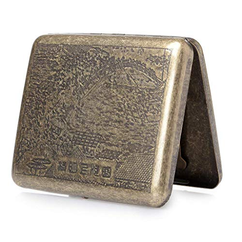 hopewey Cassetta per Sigarette in Metallo, portasigarette per 20 Sigarette Scatola di Sigarette lussuosamente Elegante QINGMING Z2