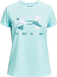 Under Armour Girls' Tech Graphic Big Logo Short-Sleeve T-Shirt