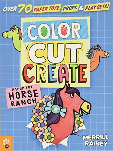 Color, Cut, Create Play Sets: Horse Ranch