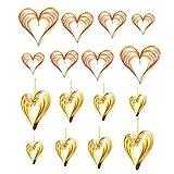 STOBOK 8Pcs / 2 Sets Corazón Colgante Guirnalda Corazón Papel Ornamento Colgante Bunting Banner para Boda Despedida de Soltera Cumpleaños Aniversario Valentines Decoraciones Del Partido