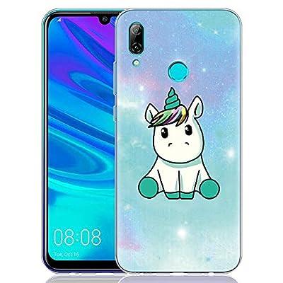 Yoedge Funda Huawei P Smart 2019, Ultra Slim Cárcasa Silicona Transparente con Dibujos Animados Diseño Patrón 360 Bumper Case Cover para Huawei P Smart 2019 Smartphone (Unicornio)
