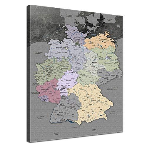 LANA KK deutschl-edelgrau-l_40x60-1-S Leinwandbild, 40 x 60 cm