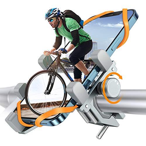 Fahrrad Handyhalterung, DesertWest Luftfahrt-Aluminiumlegierung Motorrad Scooter Universal MTB Rennrad Handy Halterung Fahrradlenker Schnellspanner Outdoor Lenker Halter Für 4,7-7,2 Zoll Smartphone