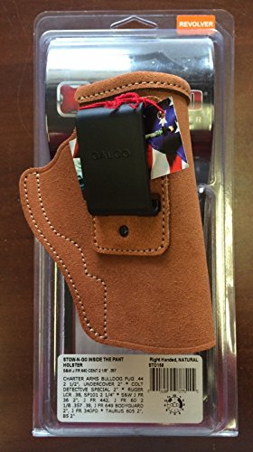 Galco Stow-N-Go Inside The Pant Holster for S&W J Frame 640 Cent 2 1/8-Inch .357 (Natural, Right-Hand)
