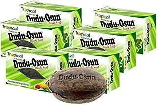Dudu Osun Tropical Jabón negro africano puro, pack de 6&