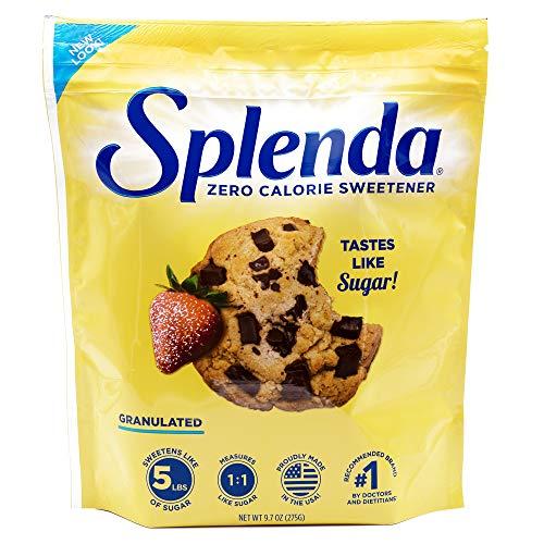 SPLENDA No Calorie Sweetener Granulated Sugar Substitute, 9.7 Ounce Resealable Bag