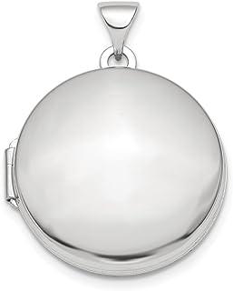 Ciondolo a forma di medaglione rotondo in argento Sterling 925 lucido, 20 mm