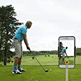 XLHVTERLI Golf Phone Holder Clip Golf Swing Recording Training Aids,Record Golf Swing/Short Game/Putting,Golf Accessories,Universal Smartphone Holder for The Golf Trolley,car Holder, (Black) (Black)