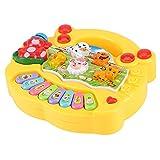 ドラム おもちゃ 赤ちゃん 多機能 キーボード 知育 玩具 ピアノ・鍵盤楽器(CP5031A黄色)