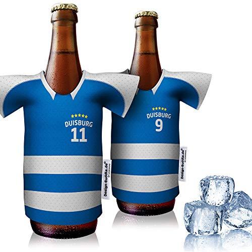 vereins-Trikot-kühler Home für MSV Duisburg Fans | 2er Fan-Edition| 2X Trikots | Fußball Fanartikel Jersey Bierkühler by ligakakao.de