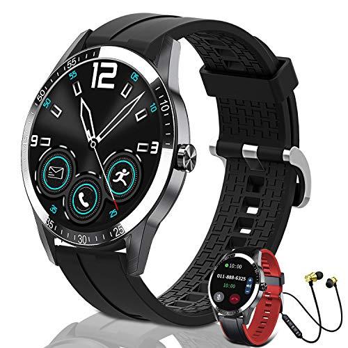 Reloj inteligente para hombres y mujeres, Smartwatch de 1,3 pulgadas, pantalla táctil Bluetooth IP68, resistente al agua, rastreador de actividad física con monitor de frecuencia cardíaca, recepción/hacer llamadas calculadora K2 multifuncional para Android iOS