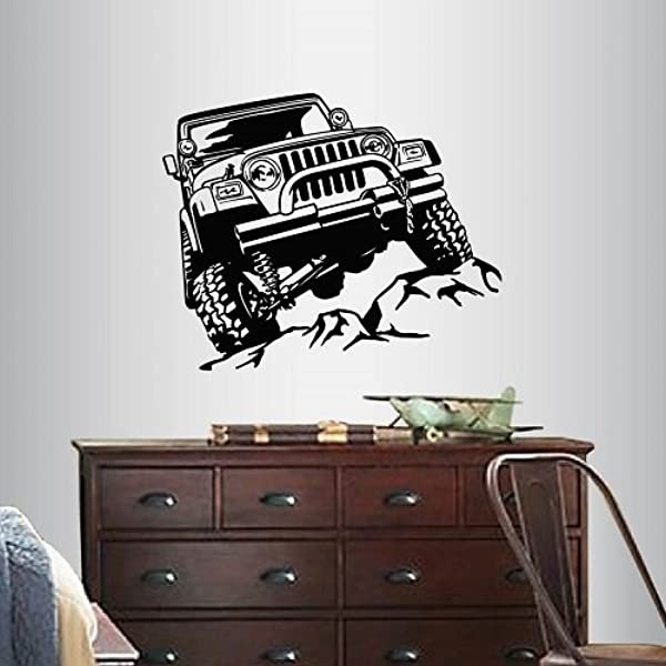 In Style Decals Wall Vinyl Decal Home Decor Art Sticker 4x4 Off Road Jeep Car Room Removable Stylish Mural Unique Design 1312