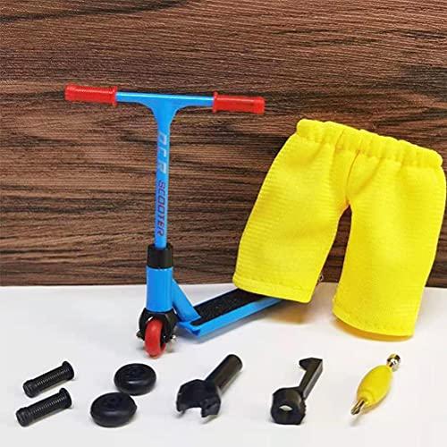 Kuashidai Mini aleación dedo scooter modelo conjunto interactivo dedo juguete novedad actividad sensorial dedo