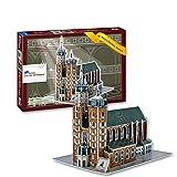 Basílica Santa María - Cracovia. Puzzle 3D Papel. Arquitectura del Mundo. Exclusivo. Educacional y Decorativo