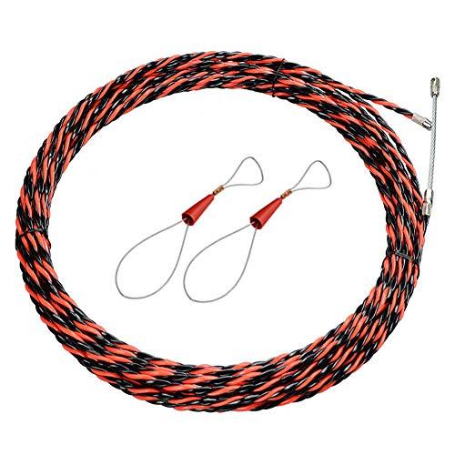 Mit Kabelspanner Push Puller Fiberglas Zubehör Schlangendraht Fischband Set Kabelschieber Rohrspule Rutder Zugdraht (5m)