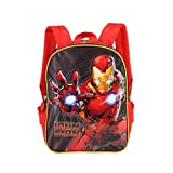 Karactermania Iron Man Armour-Dual Backpack (Small) Kinder-Rucksack, 32 cm, 9.25 liters, Rot (Red)
