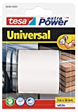 Cinta americana tesa Extra Power Universal (5 m x 50 mm), color blanco