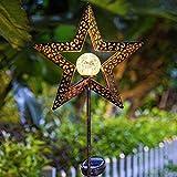 Solarlampen für außen, TakemeEuro Sterne Solarleuchte Garten Metall LED Deko Warmweiße Wasserdicht IP44 Solarlampe Wegbeleuchtung für Außen Villa Rasen Gehwege