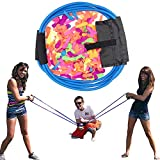 Water Balloon Launcher-with 500 Water Balloons Long Range Slingshot/Cannon/Launcher, 3 Person Giant Bomb Summer Games Toys for Outdoor Beach and Garden(Blue)