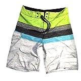YOUJIA Bañador De Natación Para Hombre Bañadores Pantalon Corto Trajes De Baño (Amarillo Verde,30)
