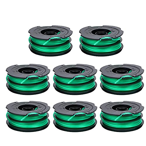 LIYYOO DF-080 Trimmer Replacement Spool Compatible with GH1000 GH1100 GH2000 String Trimmer,DF-080 & DF-080-BKP Dual Line Edger Parts Replacement Spool 30ft 0.080-inch Auto-Feed Spool (8 Pack spools)