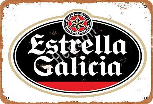 Estrella Galicia Beer Cartel de chapa de metal pintado decoración de pared moderna sala de juegos reglas de la casa arte
