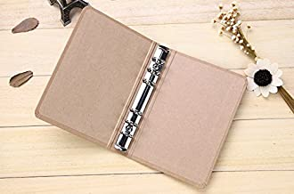 Kraft Paper 6-Hole Ring Binder Folder/File/Cover For Journal Note Book Diary (A6)