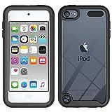 Misscat Soft TPU Bumper PC Back Hybrid Case Compatiable for iPod Touch 7/iPod Touch 6/iPod Touch 5