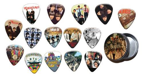 Beatles 15 X Chitarra Picks Plettri with Tin ( Gold Edition )