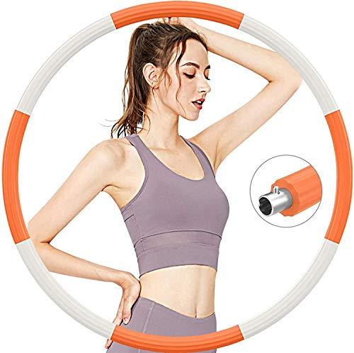 Aoweika Fitness Exercise Hoop zur Gewichtsreduktion 1.2 KG Abnehmbares Design, mit 5mm Schaumstoff von für schmerzempfindliche und Profis, für Fitness Training Outdoor-Aktivitäten, Rostfreier Stahl