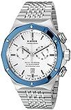 Edox Men's 10108 3BU AIN Delfin Analog Display Swiss Quartz Silver Watch