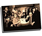 Sopranos Collage Leinwand Moderne Gangster Wall Art Print